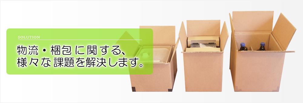 物流・梱包に関する様々な課題を解決します